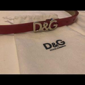 Dolce & Gabbana Patent Leather Red Belt